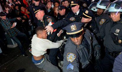 Protestas por el caso Brown en Nueva York