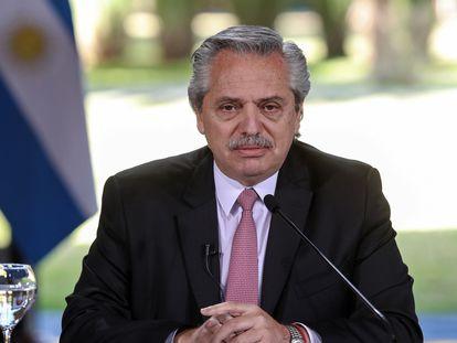 Alberto Fernández, presidente de Argentina, en una imagen de julio de 2020.