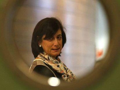 La exgerente de FGV Marisa Gracia en las Cortes Valencianas, donde declaró en 2016 por el accidente de metro.