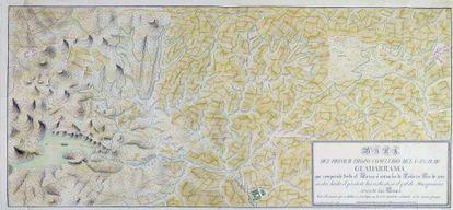 Mapa del Canal de Guadarrama, realizado en 1826