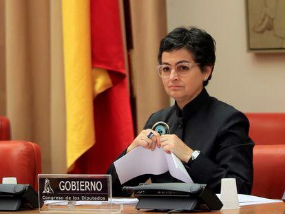 Arancha González Laya, en una comparecencia en el Congreso de los Diputados celebrada el pasado 23 de abril.