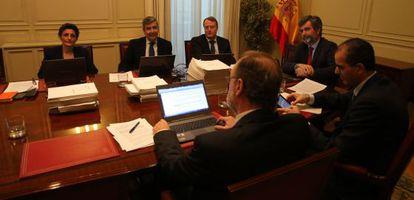 Reunión del CGPJ, en diciembre de 2014.