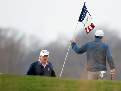 Donald Trump, en el campo de golf de Sterling (Virginia), en noviembre de 2020.
