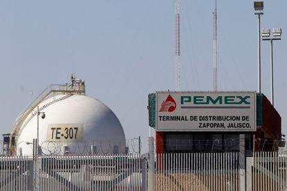 El centro de distribución de combustibles de Pemex, en Guadalajara (Jalisco).