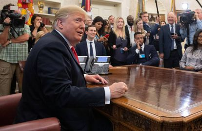 Donald Trump, el pasado jueves en el Despacho Oval.
