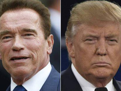 Arnold Schwarzenegger y Donald Trump.