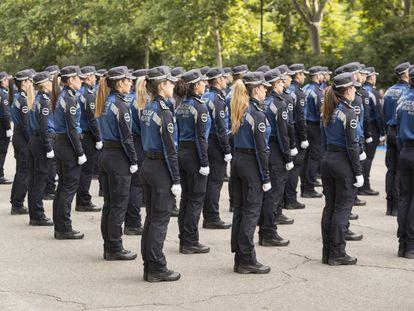 Policías municipales, en la celebración de su patrón el pasado 24 de junio.