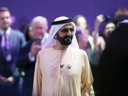 El emir Mohamed Bin Rashid, el pasado 16 de febrero en el Foro Global de la Mujer celebrado en Dubái.