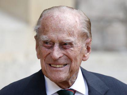 El duque de Edimburgo en una ceremonia militar en el Castillo de Windsor en 2020.