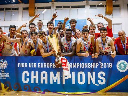 La selección sub-18 celebra el oro europeo