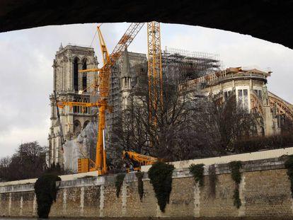 La catedral de Notre Dame, de París, el pasado domingo.