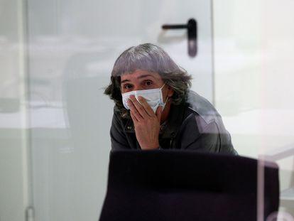 La exjefa de ETA Soledad Iparraguirre, 'Anboto', este martes en la Audiencia Nacional en Madrid.