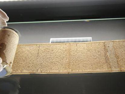 Manuscrito original de la novela del Marqués de 'Sade 120 días' en Sodoma.