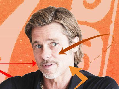 """Los pómulos, la mandíbula y el mentón son los elementos que se trabajan en la """"masculinización facial"""", una intervención estética en auge entre hombres que buscan un rostro con las facciones duras de actores como Brad Pitt."""