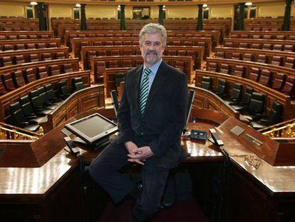 Manuel Marín fotografiado en el Congreso de los Diputados, en 2007.