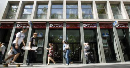 Oficinas del Banco Popular en Barcelona.