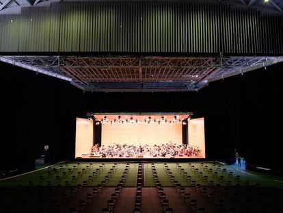 Concierto-grabación de la OSG en su nueva sede del Coliseum de A Coruña.