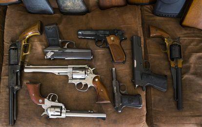 Pistolas y revólveres de Scott Porter, en Luisiana.