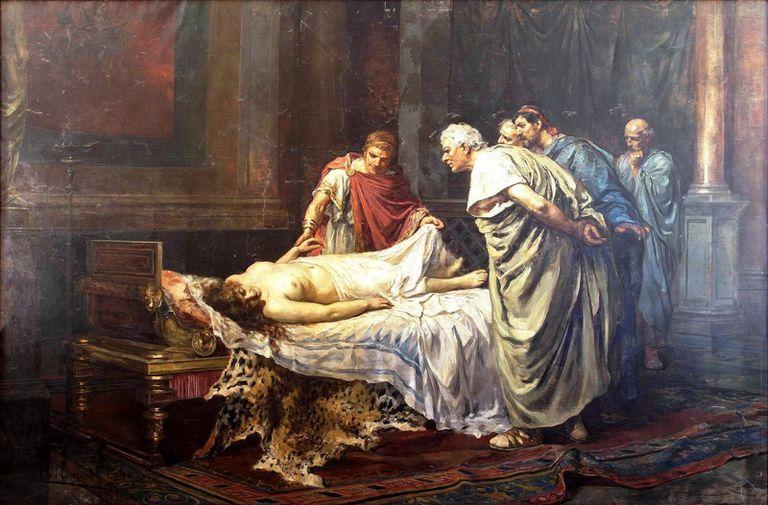 'Nerón ante el cadáver de su madre Agripina', obra del pintor Arturo Montero y Calvo.