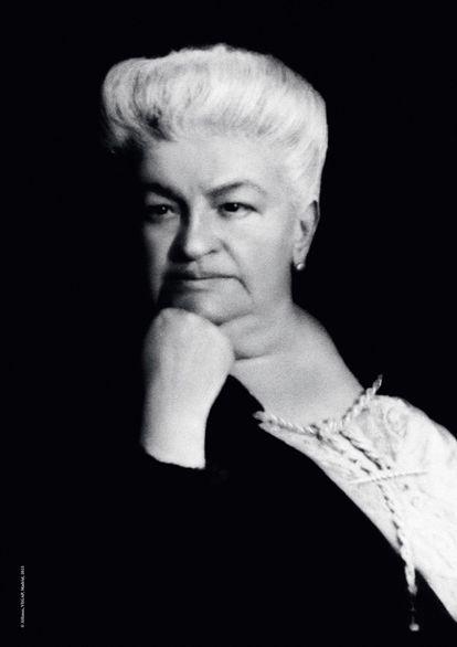 Retrato de Emilia Pardo Bazán tomado por Alfonso en 1918.