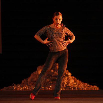 Rocío Molina, durante un ensayo durante la pasada Bienal de Flamenco de Sevilla.