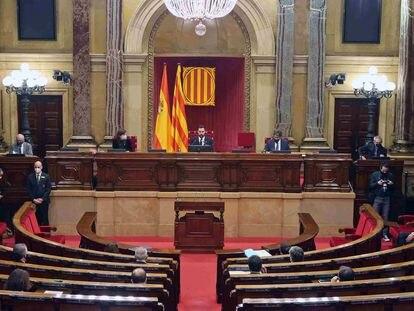 Sesión del Parlament de Cataluña, el pasado día 13 de enero.