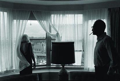 Marilyn Monroe y Arthur Miller en una habitación de hotel / Marilyn Monroe and Arthur Miller in their hotel room