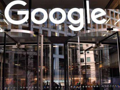 Entrada de las oficinas de Google en Londres.