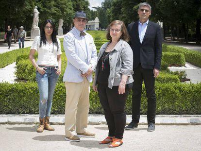 De izquierda a derecha: Monica Ojeda, Jorge Eduardo Benavides, Pablo Simonetti y Clara Obligado