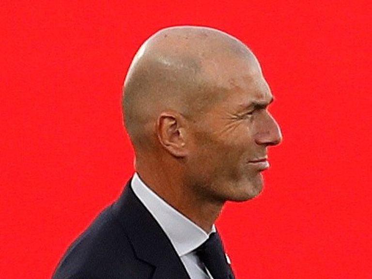 Zidane, durante el Madrid-Cádiz.