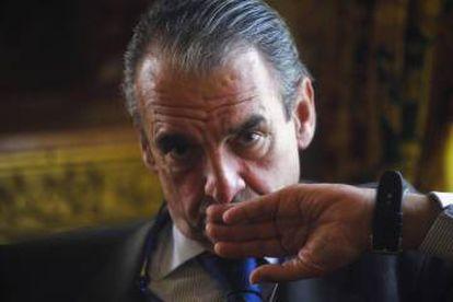 Mario Conde, expresidente de Banesto, en una entrevista en 2013