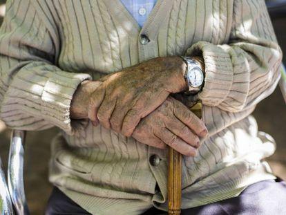 Mayores en una residencia geriátrica en un pueblo de Madrid.