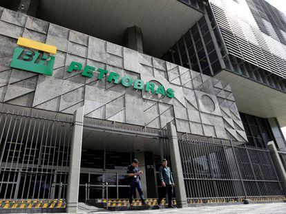 La fachada del corporativo de Petrobras en Río de Janeiro.