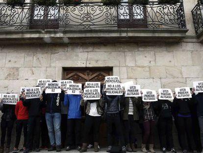 Concentración en apoyo a los detenidos por la paliza a los Guardia Civiles en Alsasua.