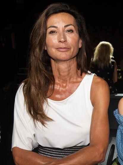 Mónica Gómez-Cuetara en un desfile de la Mercedes Benz Fashion Week de Madrid en julio de 2019.
