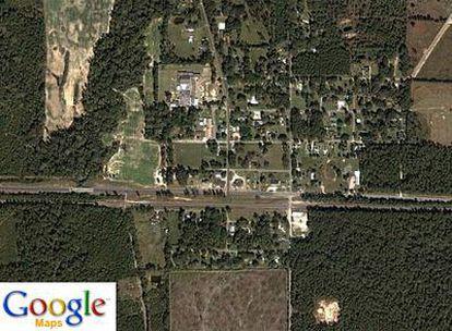 Vista aérea del pueblo de Reeves