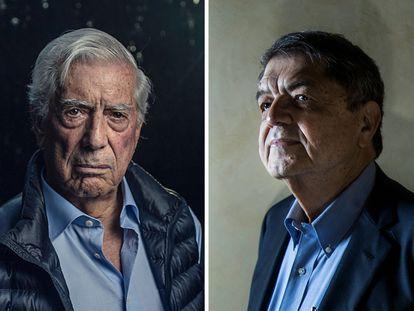 Los escritores latinoamericanos Mario Vargas Llosa y Sergio Ramírez.