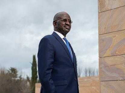 El ministro del Interior de Mauritania, el lunes en Madrid.
