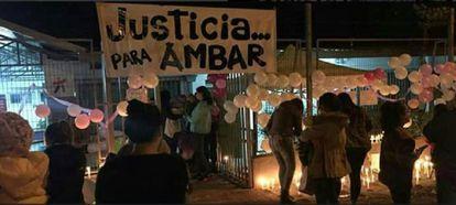 Una protesta por el caso Ambar en Chile.