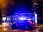 DVD 1072 (23/09/2021) Dispositivo policial en las inmediaciones de Moncloa, después de haber requisado el alcohol a algunos jóvenes que se concentraban bajo las paradas de autobús por la lluvia.David Expósito