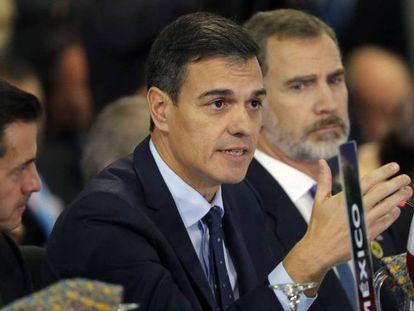 El presidente español, Pedro Sánchez, en la Cumbre Iberoamericana.