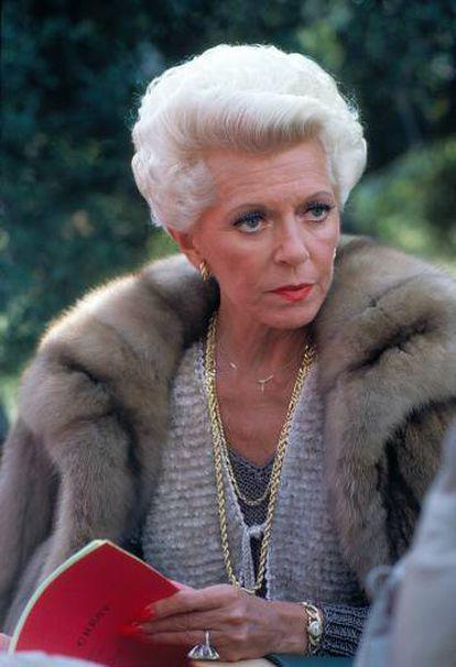Lana Turner en 'Falcon Crest' en 1982.