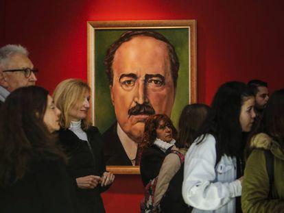 Un retrato de Blasco Ibáñez en la exposición dedicada en Valencia al escritor.