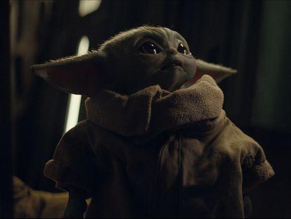 Baby Yoda en una imagen de 'The Mandalorian', de Disney +.
