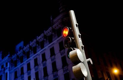 Semáforo en Madrid