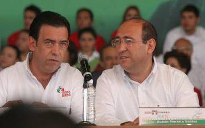 Humberto Moreira y su hermano Rubén, en una imagen de archivo.