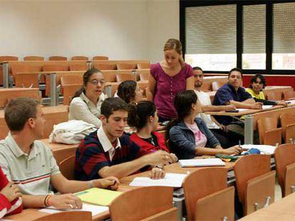 Alumnos en un curso cero de la Universidad Rey Juan Carlos.