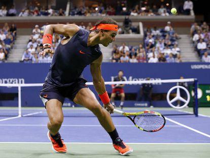 Nadal, durante un partido en el último US Open de Nueva York.