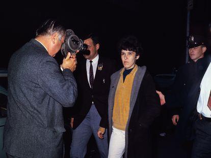 Valerie Solanas, tras su arresto por haber disparado a Andy Warhol.