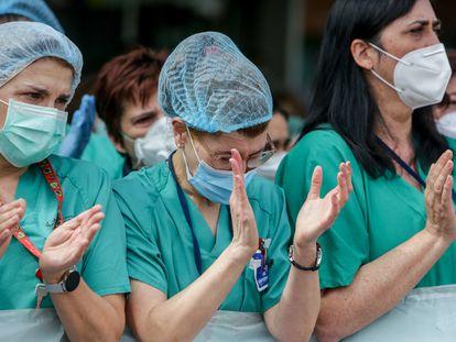 Trabajadoras de la sanidad pública